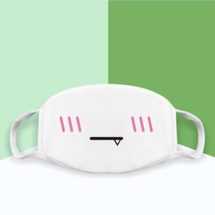 Japanese Emoticons /  Kaomoji Face Mask-Vampire