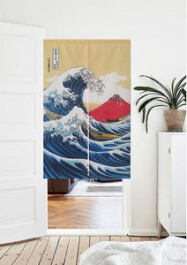 wave wall hanging curtain noren