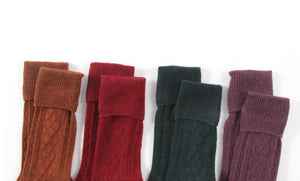 Extended Crew Length | Wool Socks | Dark Green