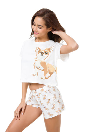 Chihuahua Two Piece Pajama Set