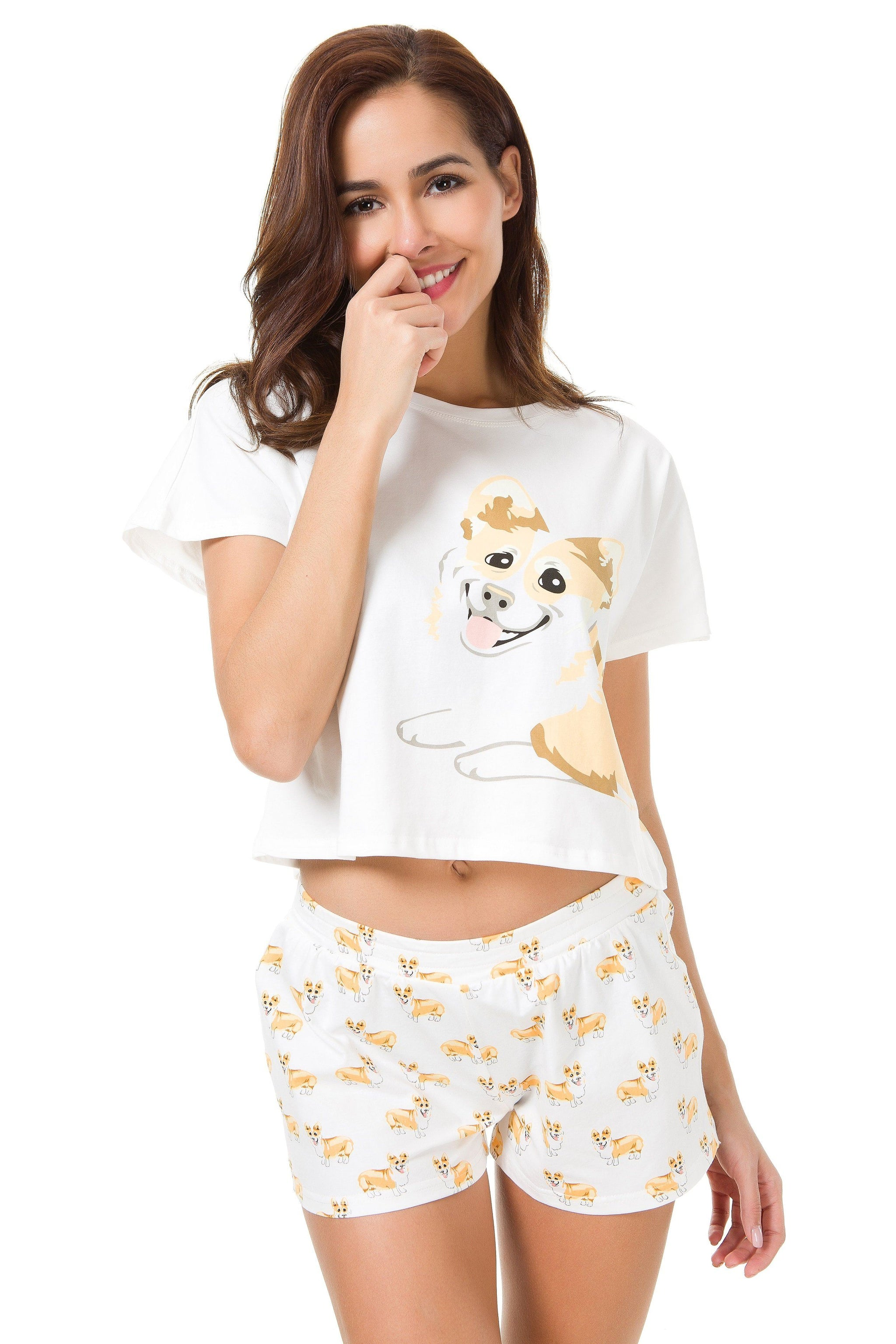 Corgi Two Piece Pajama Set - The Crop Stop f7a660738