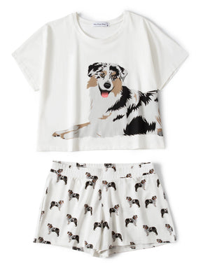 Set - Australian Shepherd Two Piece Pajama Set