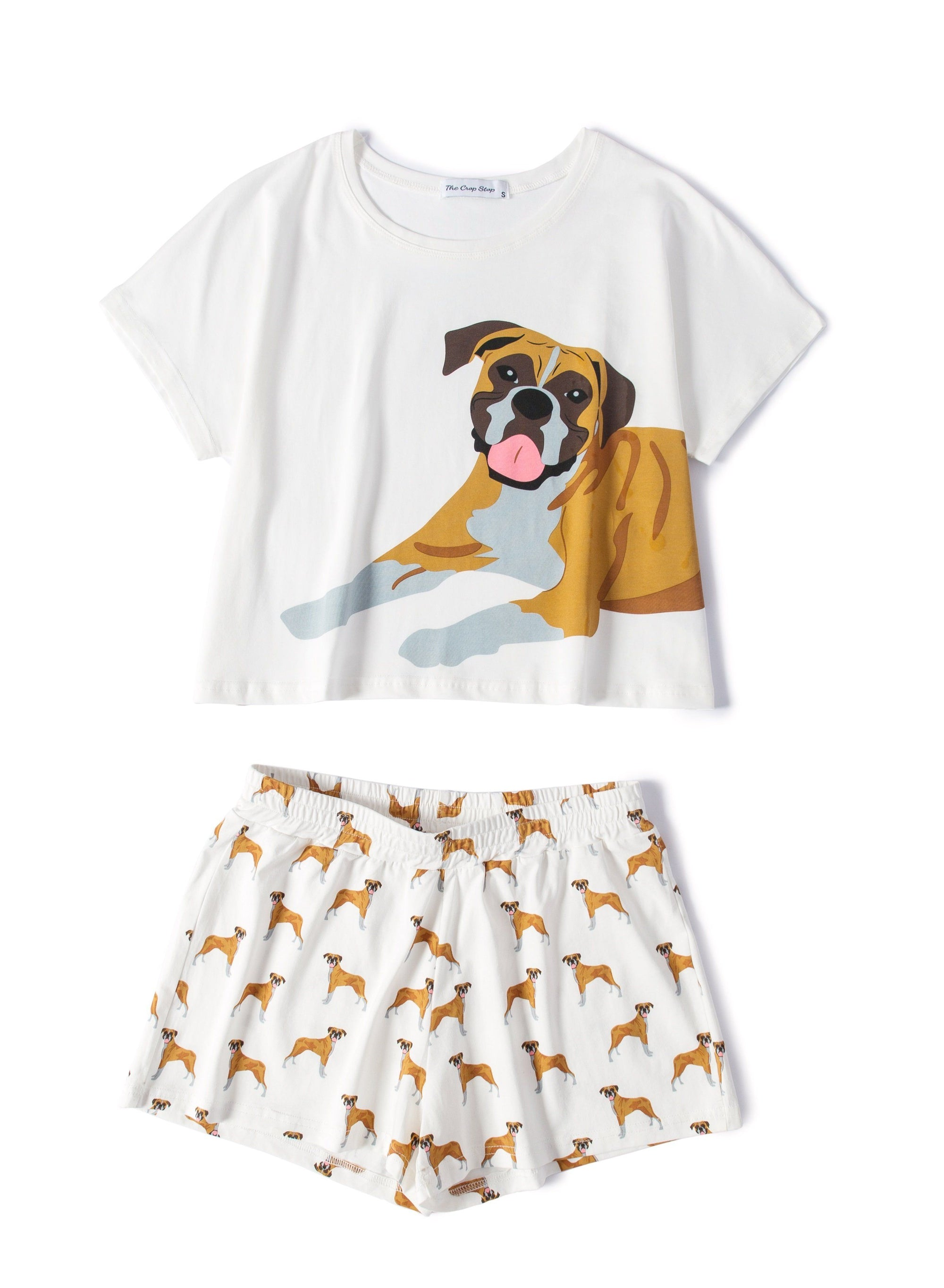 Boxer Two Piece Pajama Set
