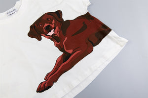 Set - Chocolate Labrador Two Piece Pajama Set