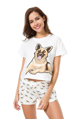 Set - German Shepherd Two Piece Pajama Set
