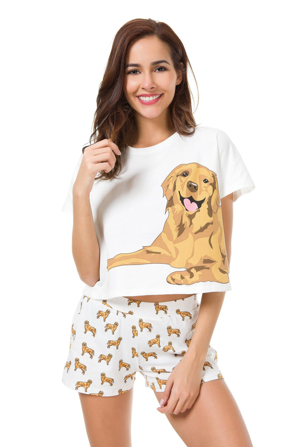 golden retriever pajamas golden retriever two piece pajama set the crop stop 4544