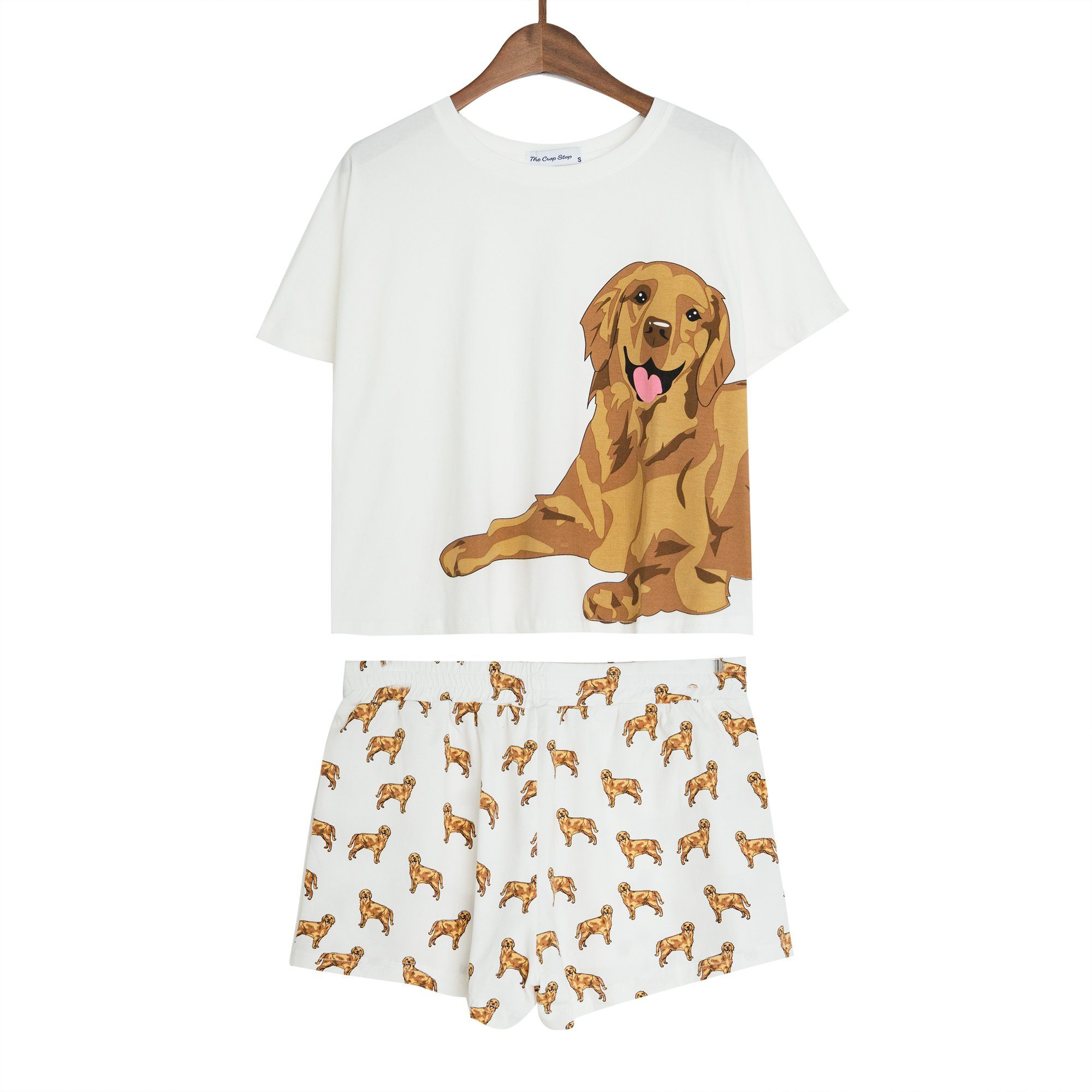 golden retriever pajamas golden retriever two piece pajama set the crop stop 6859