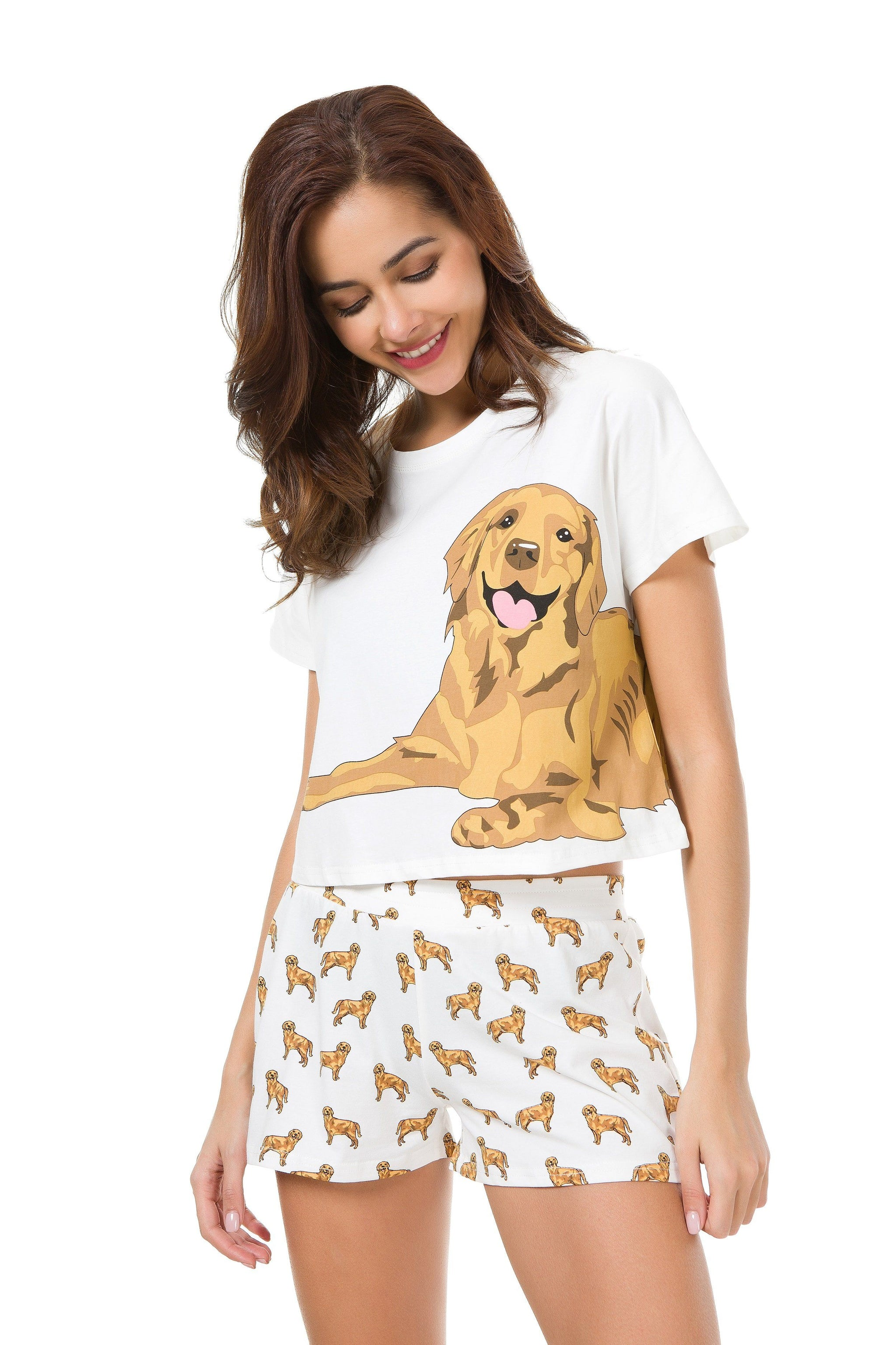 golden retriever pajamas golden retriever two piece pajama set the crop stop 981