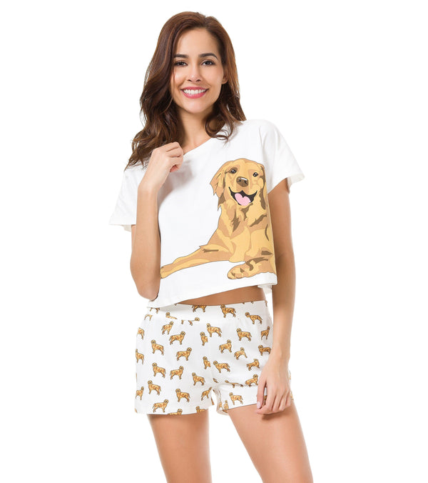 golden retriever pajamas golden retriever two piece pajama set the crop stop 3383
