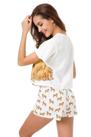 Set - Golden Retriever Two Piece Pajama Set