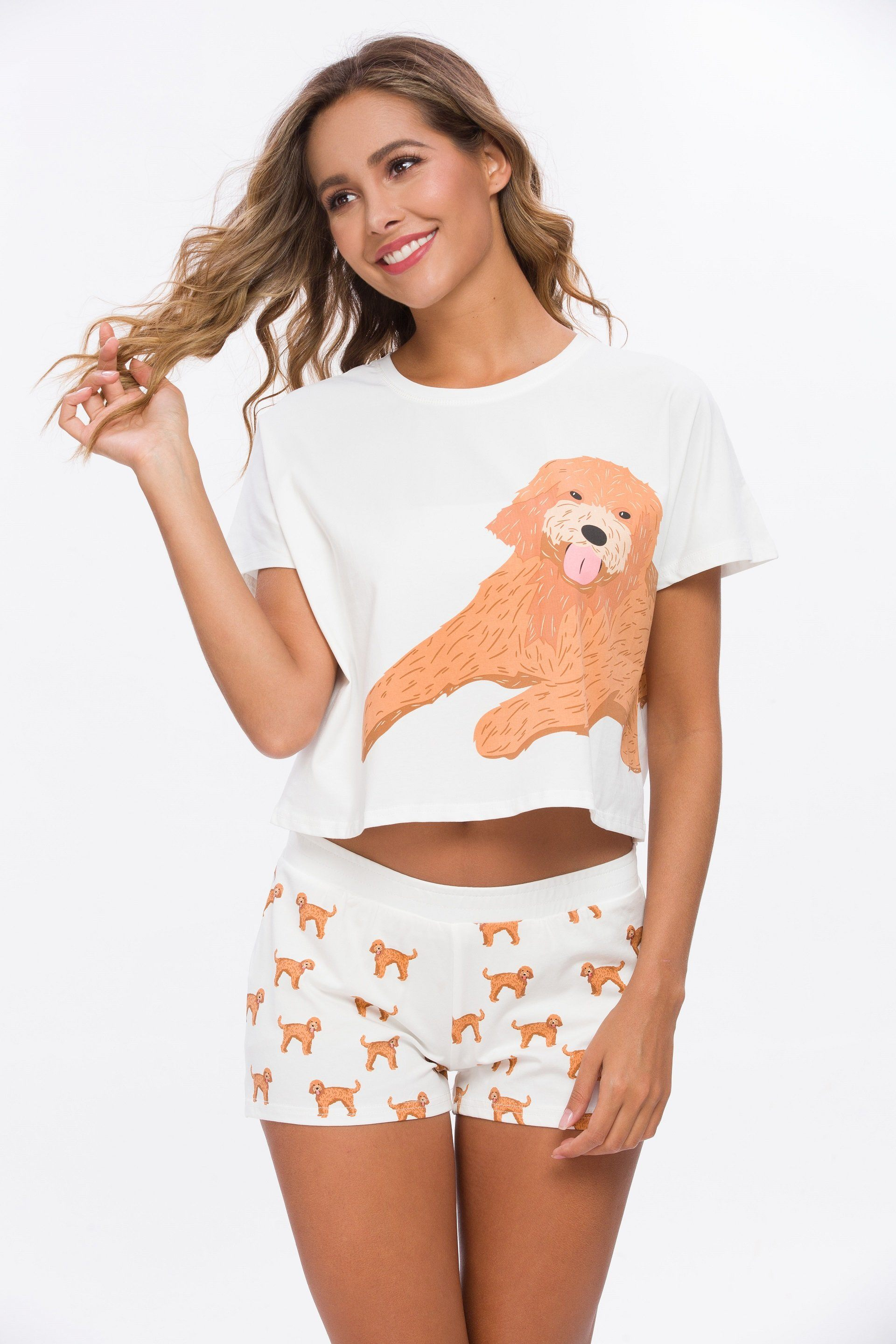 Goldendoodle Two Piece Pajama Set
