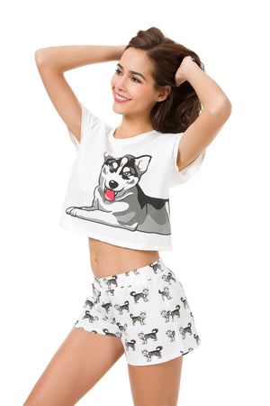 Set - Husky Two Piece Pajama Set