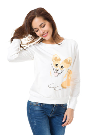 Top - Wrap Around Corgi Sweatshirt