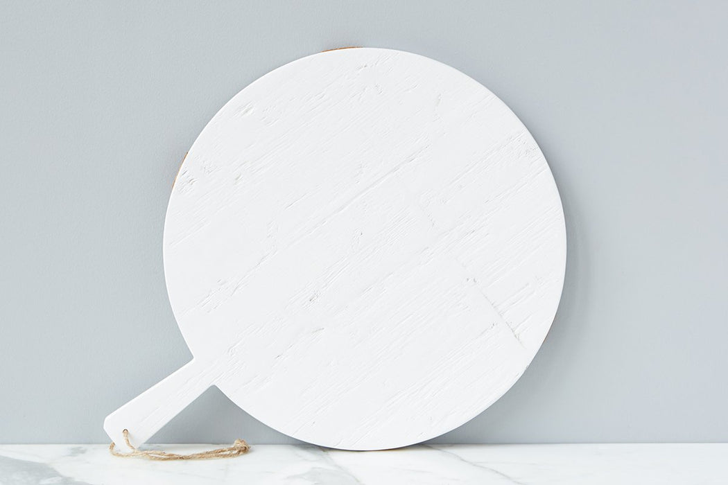 White Round Mod Charcuterie Board, Medium - 2