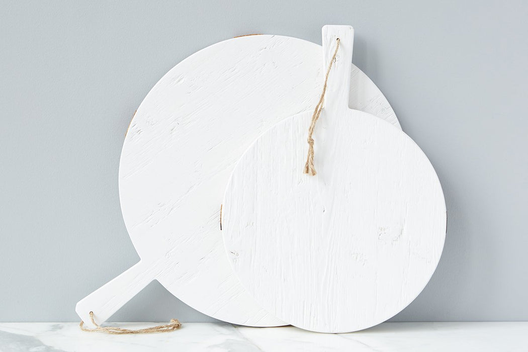 White Round Mod Charcuterie Board, Medium - 5