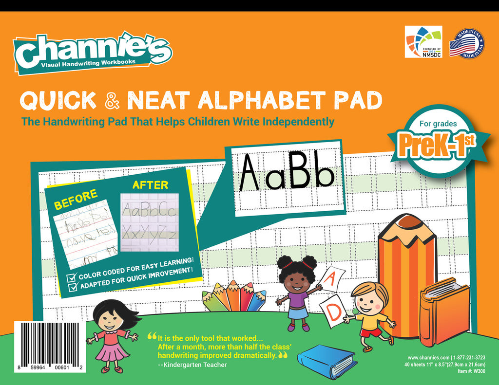 Workbooks prek workbooks : Channie's Quick & Neat Alphabet Pad for Grades Pre-k-1st. Simple ...