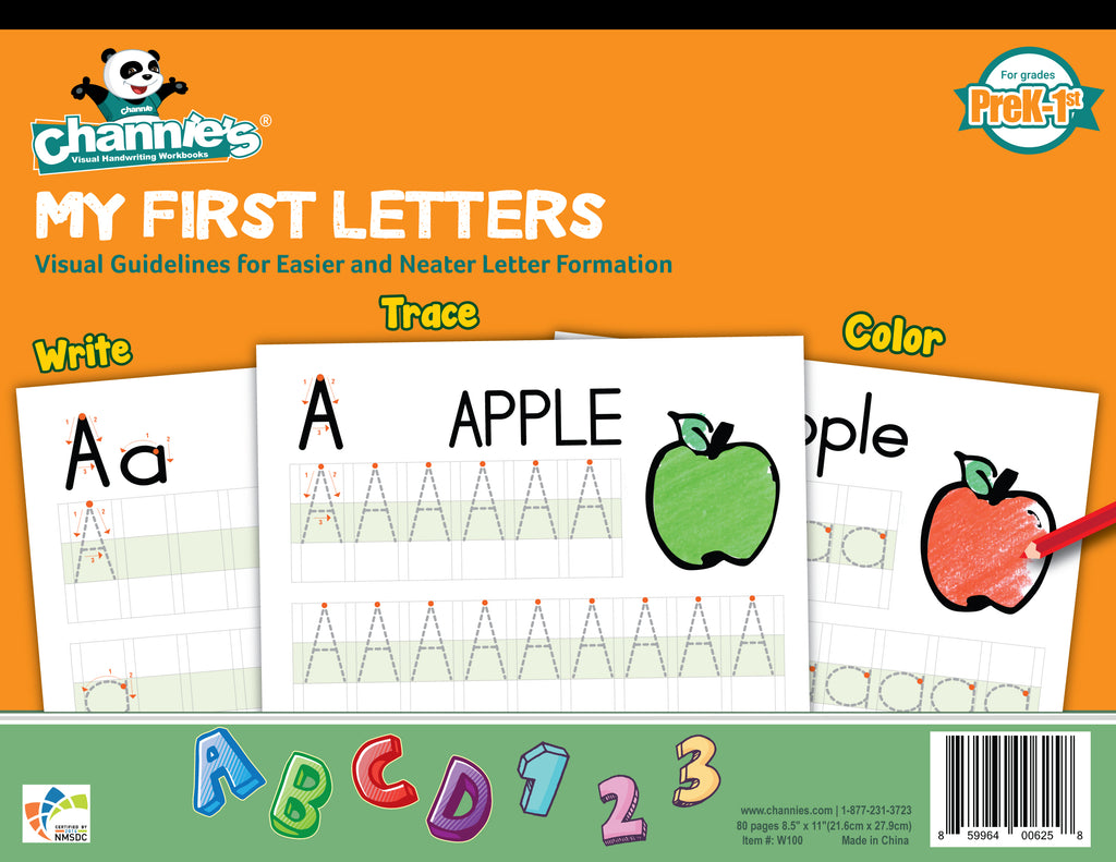 3 Letter Words For Pre K.Top Seller New Way To Learn Alphabet Easy Visual Channie S My First Letter For Pre K 1st