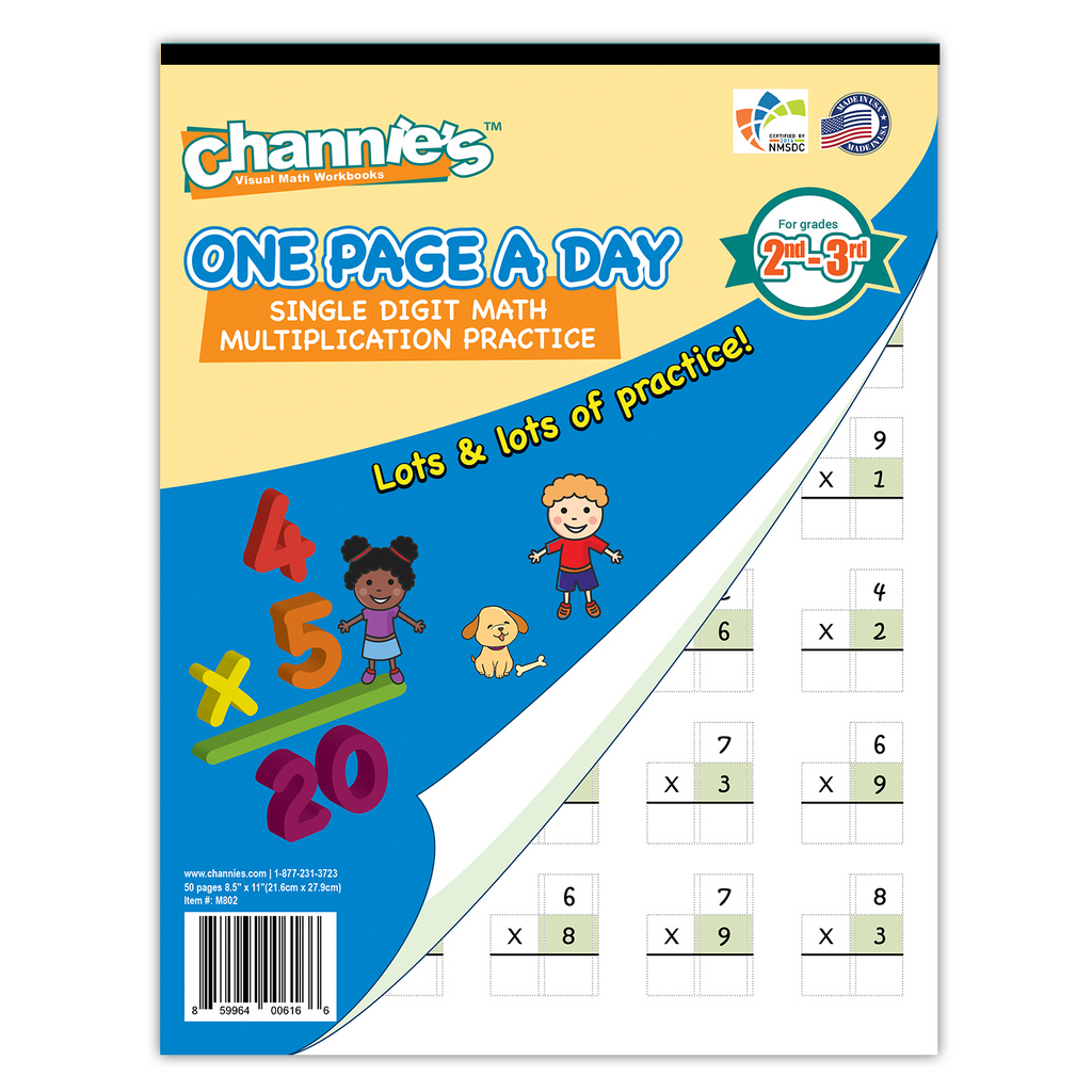 Channie\'s One Page A Day Single Digit (Beginner) Multiplication ...