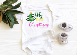 My first Christmas Graphic  Baby Bodysuit AA164