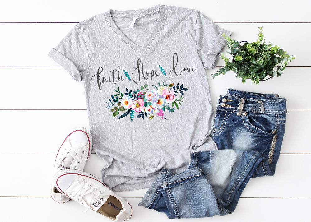Faith Hope Love Ladies T Shirt
