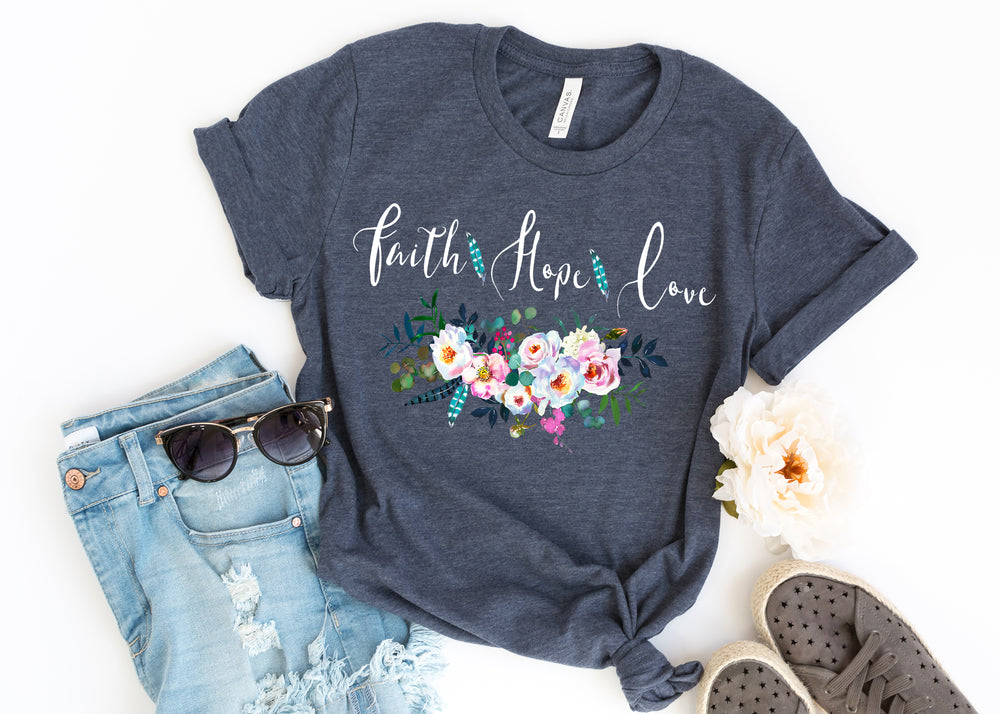 Faith Hope Love Ladies T Shirt AA350