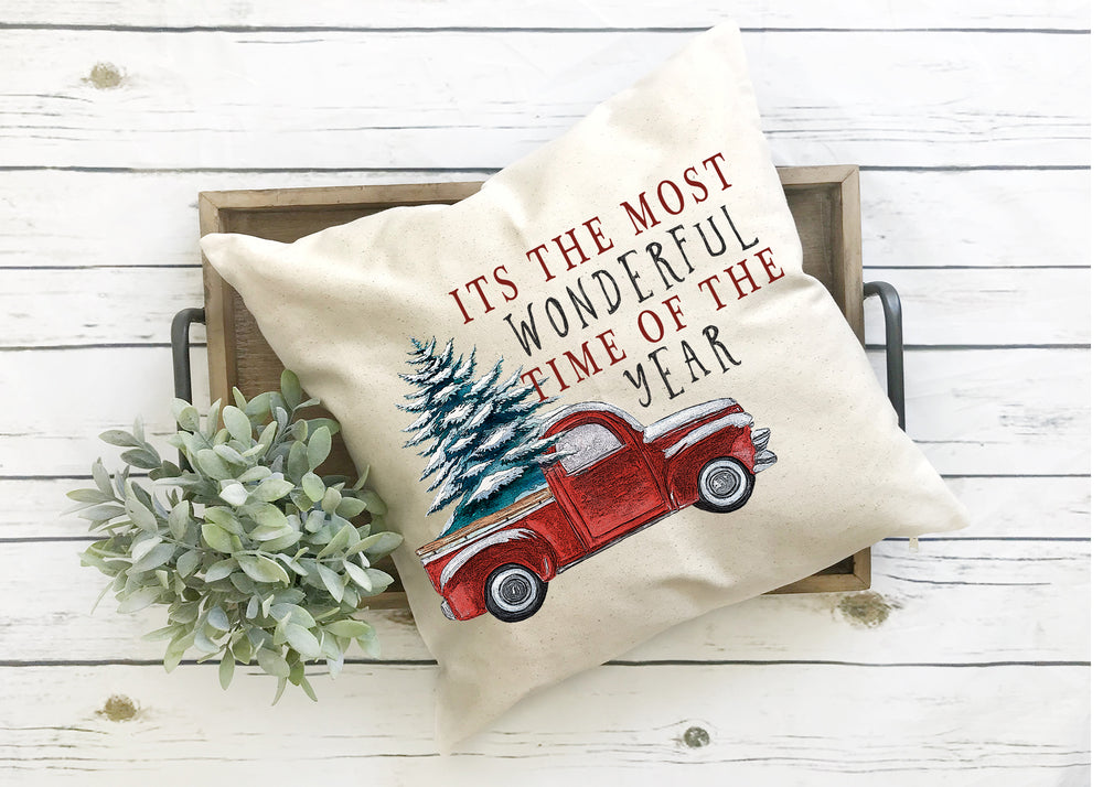 Its the most wonderful time of year christmas pillow cover