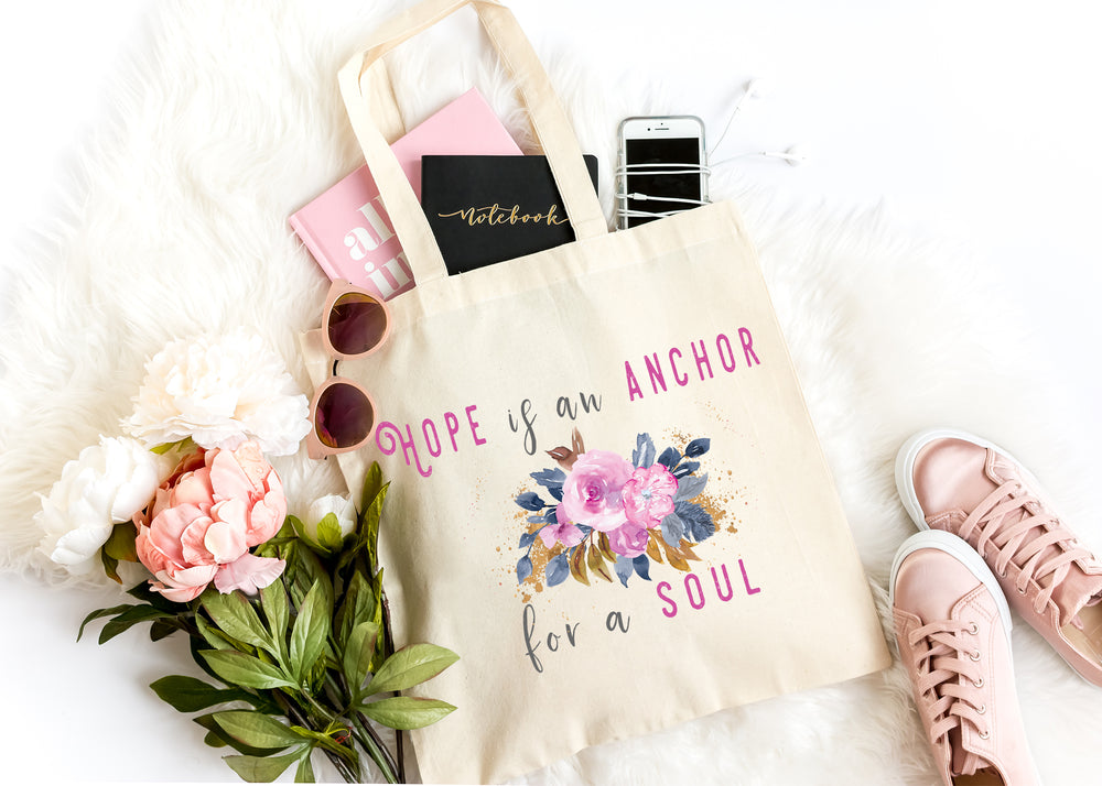 hope is an anchor for the soul reusable tote bag