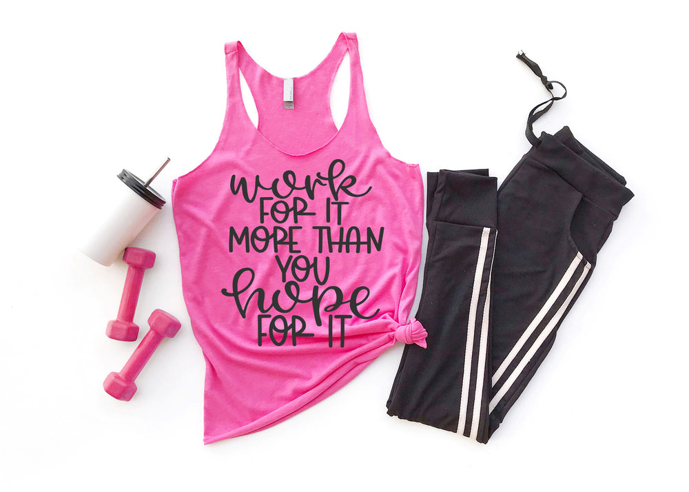 Work for It Ladies Tank Top AA611