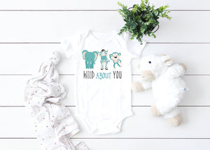 Wild About you baby onesie