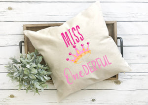 Miss Onderful Pillow Cover