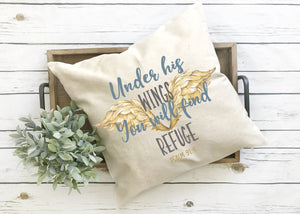 Under his wings pillow cover