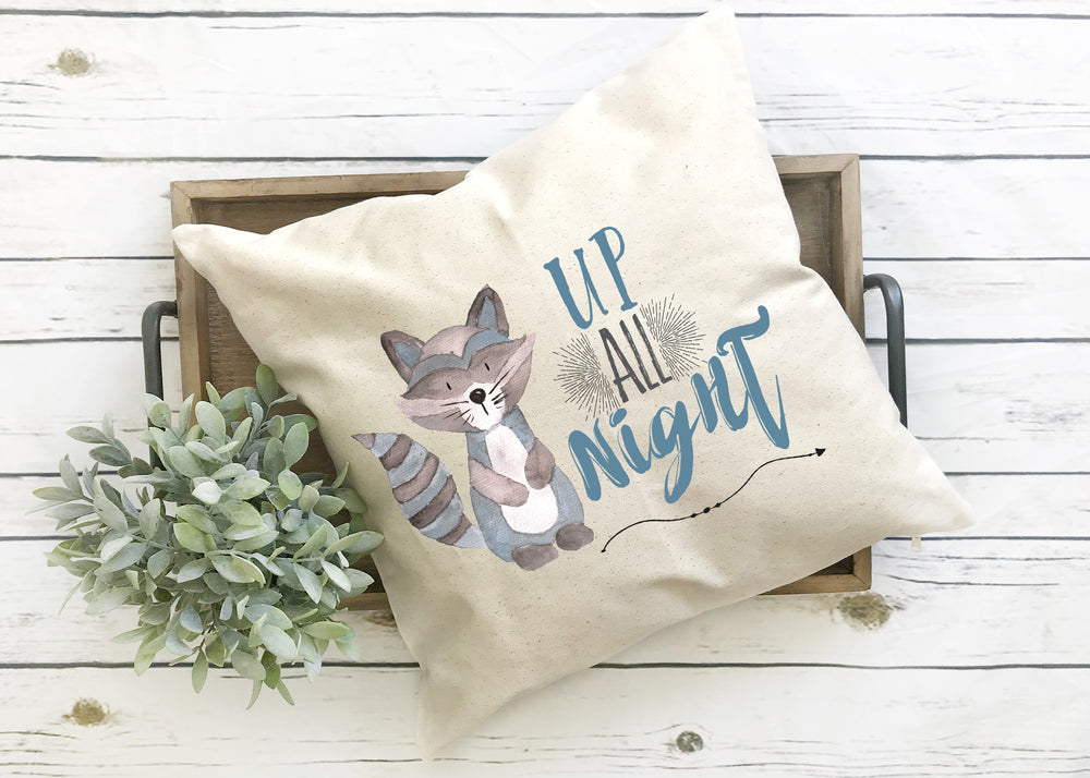 Up all Night Pillow Cover