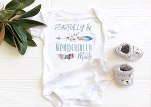 fearfully and wonderfully made baby onesie