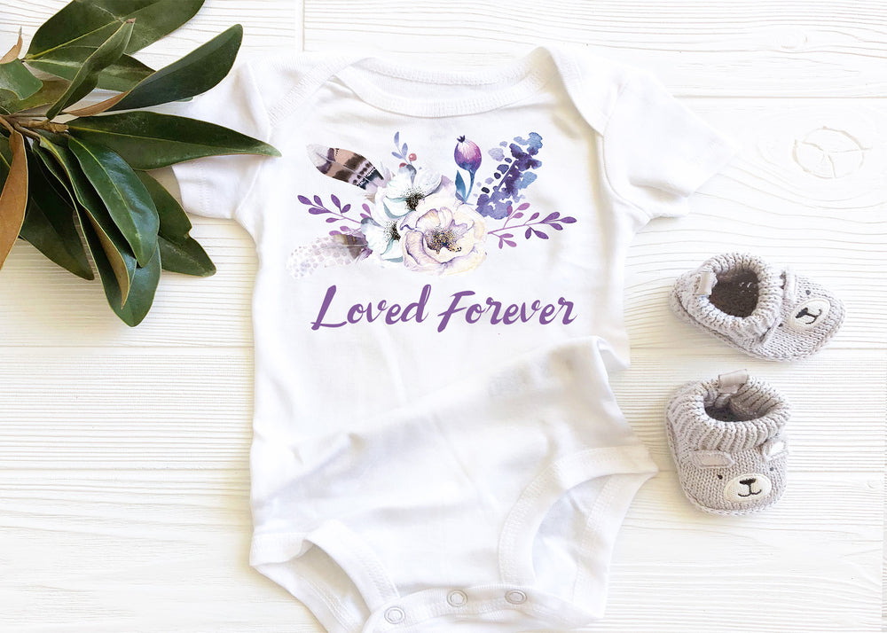Loved Forever baby onesie