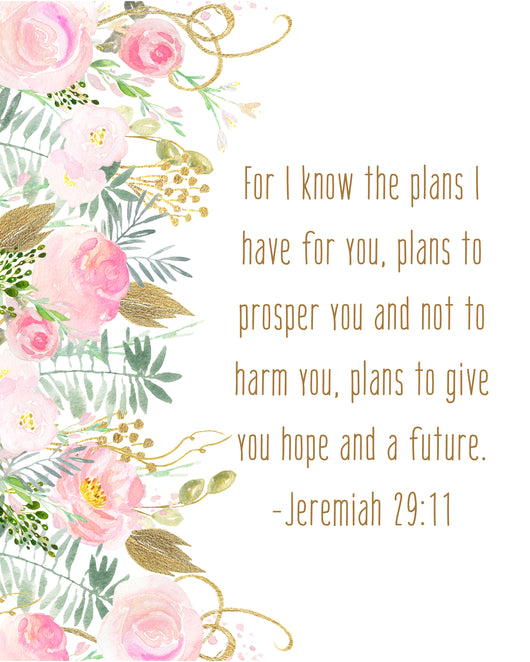 Jeremiah 2911 For I Know The Plans I Have For You Christian Wall