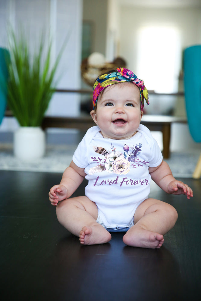 Loved Forever Graphic  Baby Bodysuit AA140