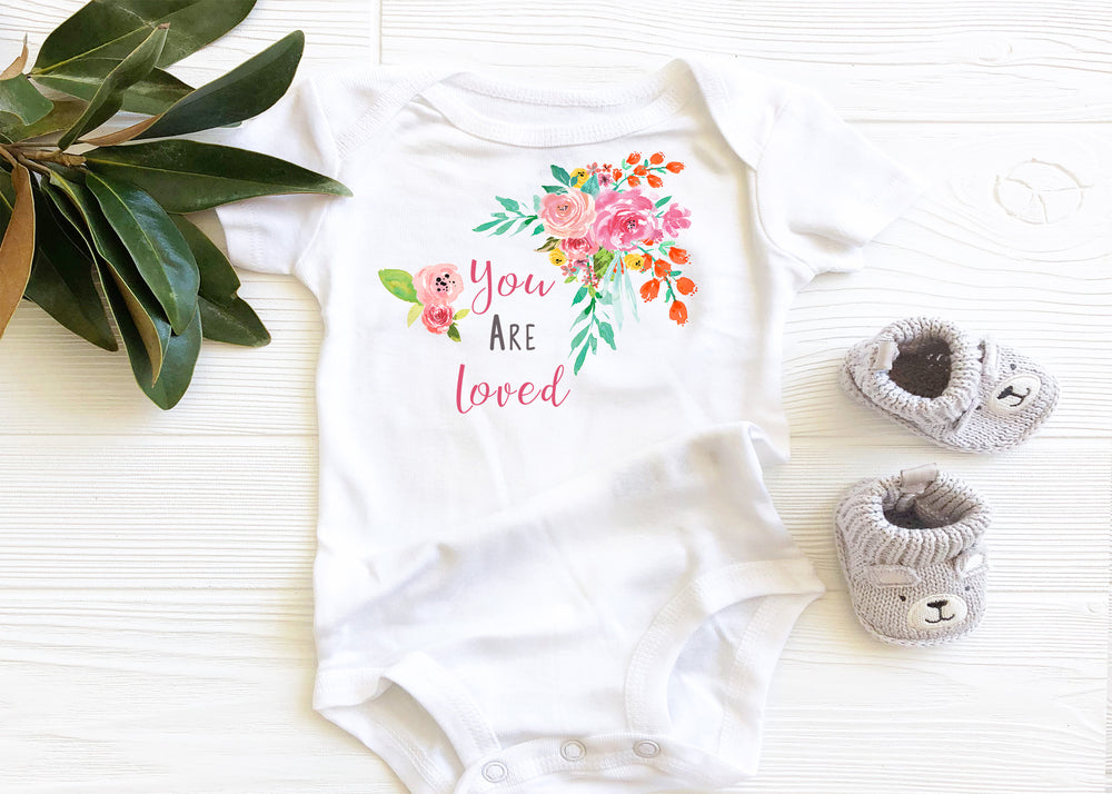You are loved baby onesie