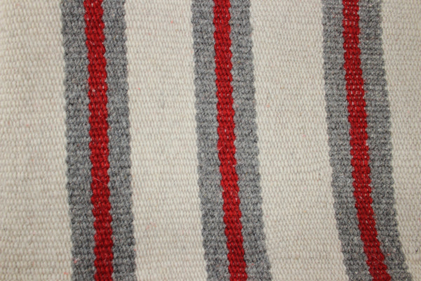 Grey Red Stripe Blanket