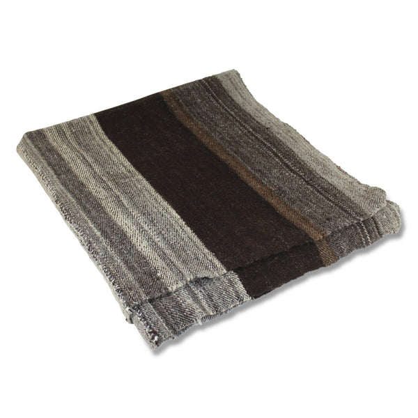 Poncho Brown With Stripe
