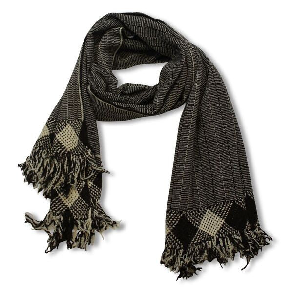 Brown Shawl Diamond Fringe