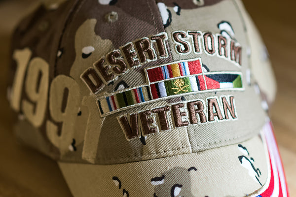 EXCLUSIVE Desert Storm Veteran Hat (with flag)