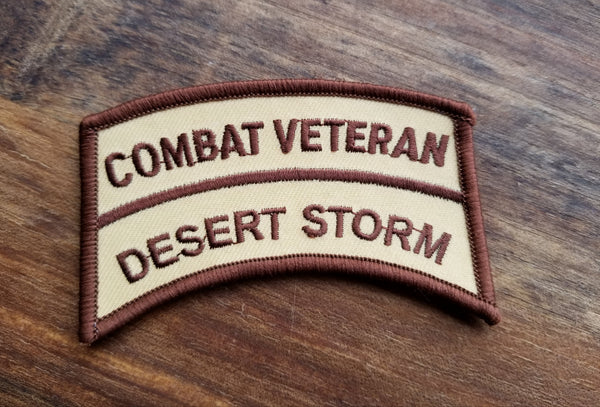 Combat Veteran Desert Storm Patch