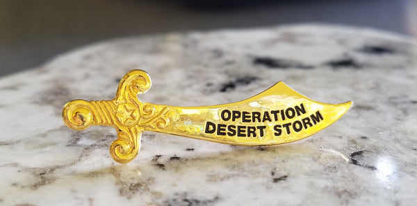 Operation Desert Storm Sword Lapel Pin