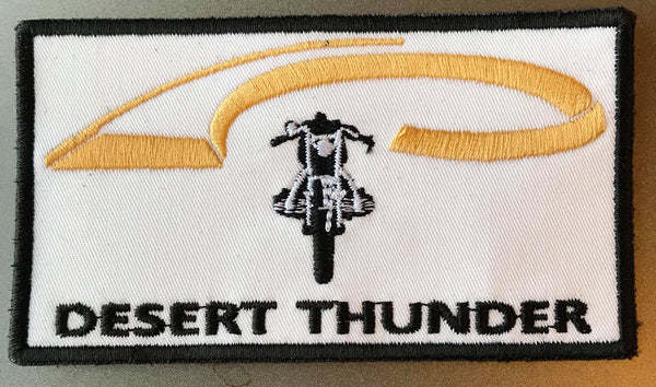Desert Thunder Motorcycle Patch