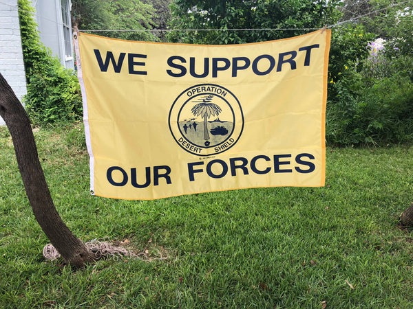 Desert Shield (Support our Forces) Flag (3' x 5') Vintage (Summer SALE)