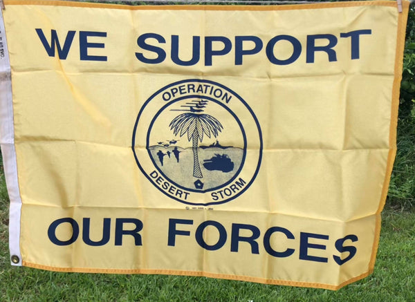 Desert Storm (Support our Forces) Flag (2'x3') Vintage (April SALE)