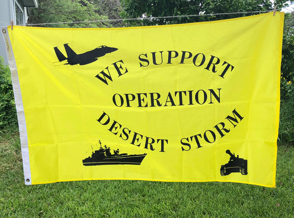 Operation Desert Storm Flag (yellow) Vintage (Summer SALE)