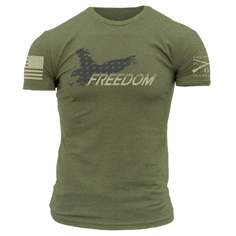 Grunt Style Eagle of Freedom Shirt (green)