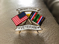 Desert Storm Flag Lapel Pin (Sale)