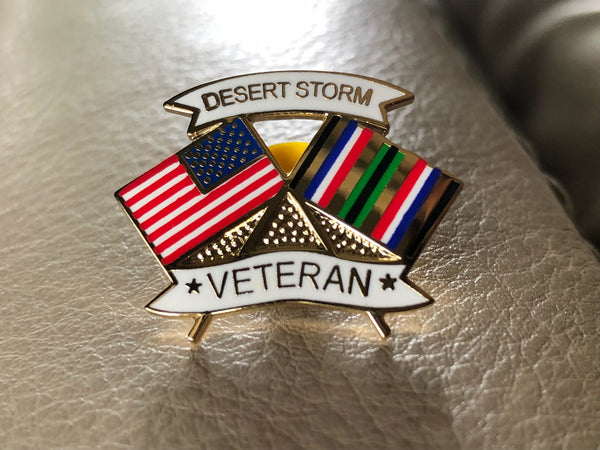 Desert Storm Flag Lapel Pin